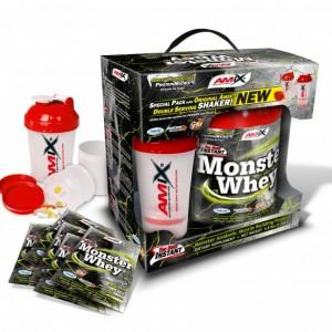 AMIX Anabolic Monster Whey® vanilla-cherry 2,2kg + Monster šejker GRATIS