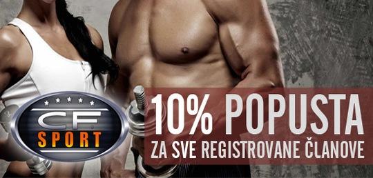 10% popusta za registrovane članove!