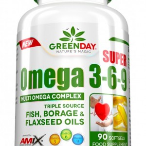 GreenDay® Super Omega 3-6-9 90softgel kapsula