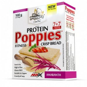 Mr.Popper's – Poppies CrispBread Protein amaranth 100g
