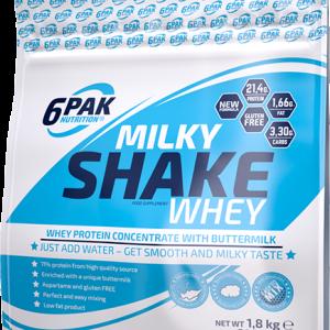 6PAK Milky Shake Whey 1800g jagoda